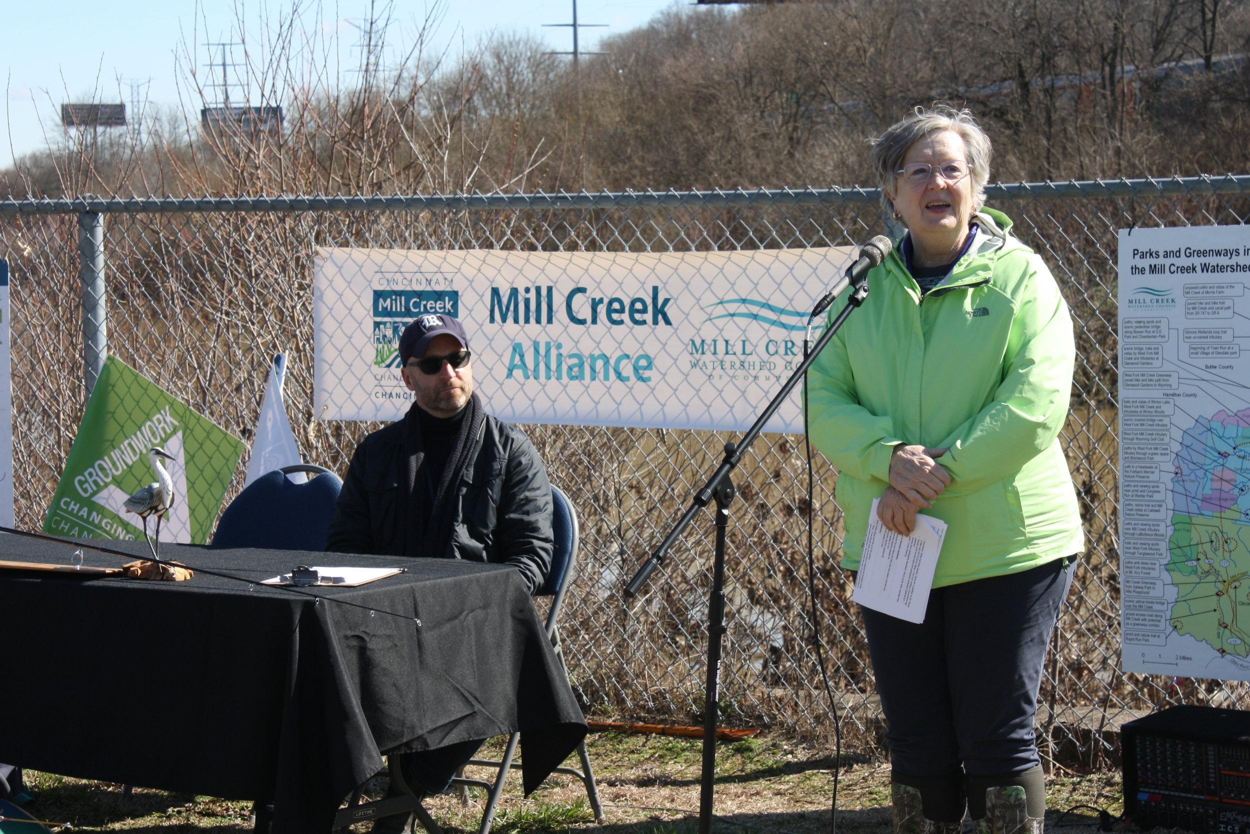 Mill Creek Alliance - press conf - Pat at mic.JPG