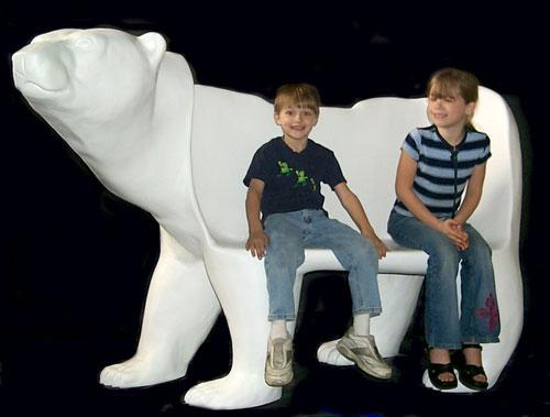 Fiberglass Bear Bench