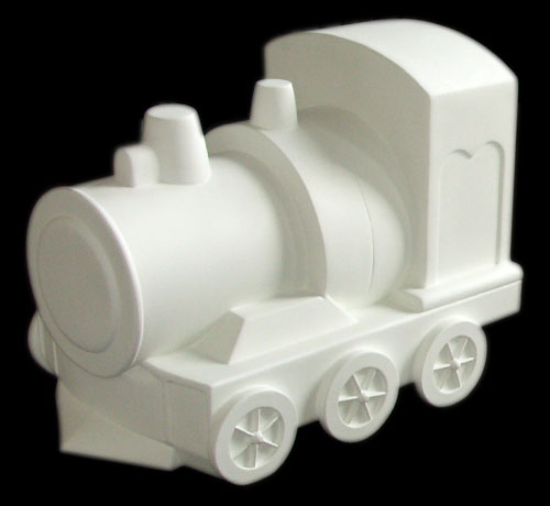 Fiberglass Train for Public Art