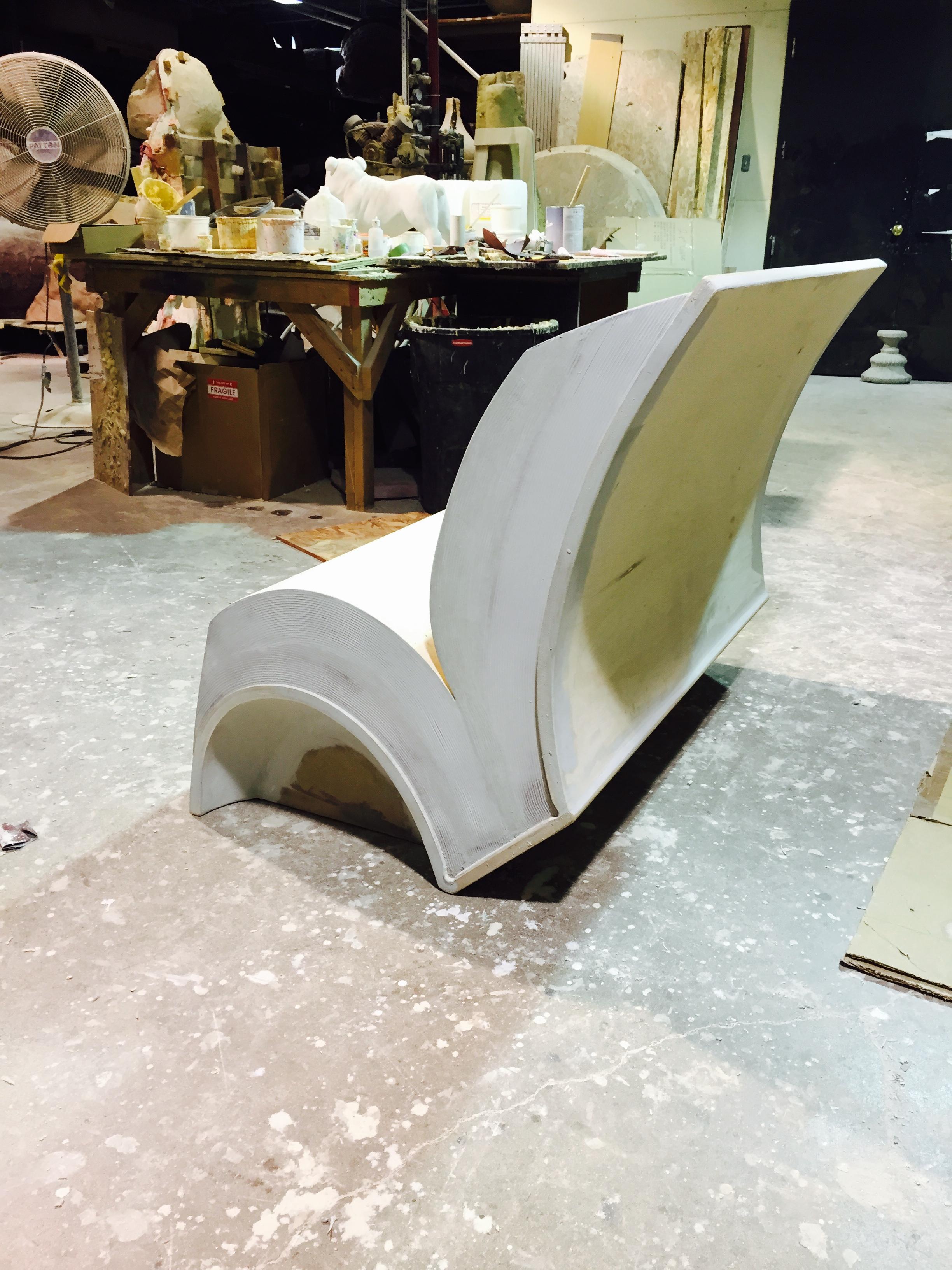 Fiberglass Book Park Bench