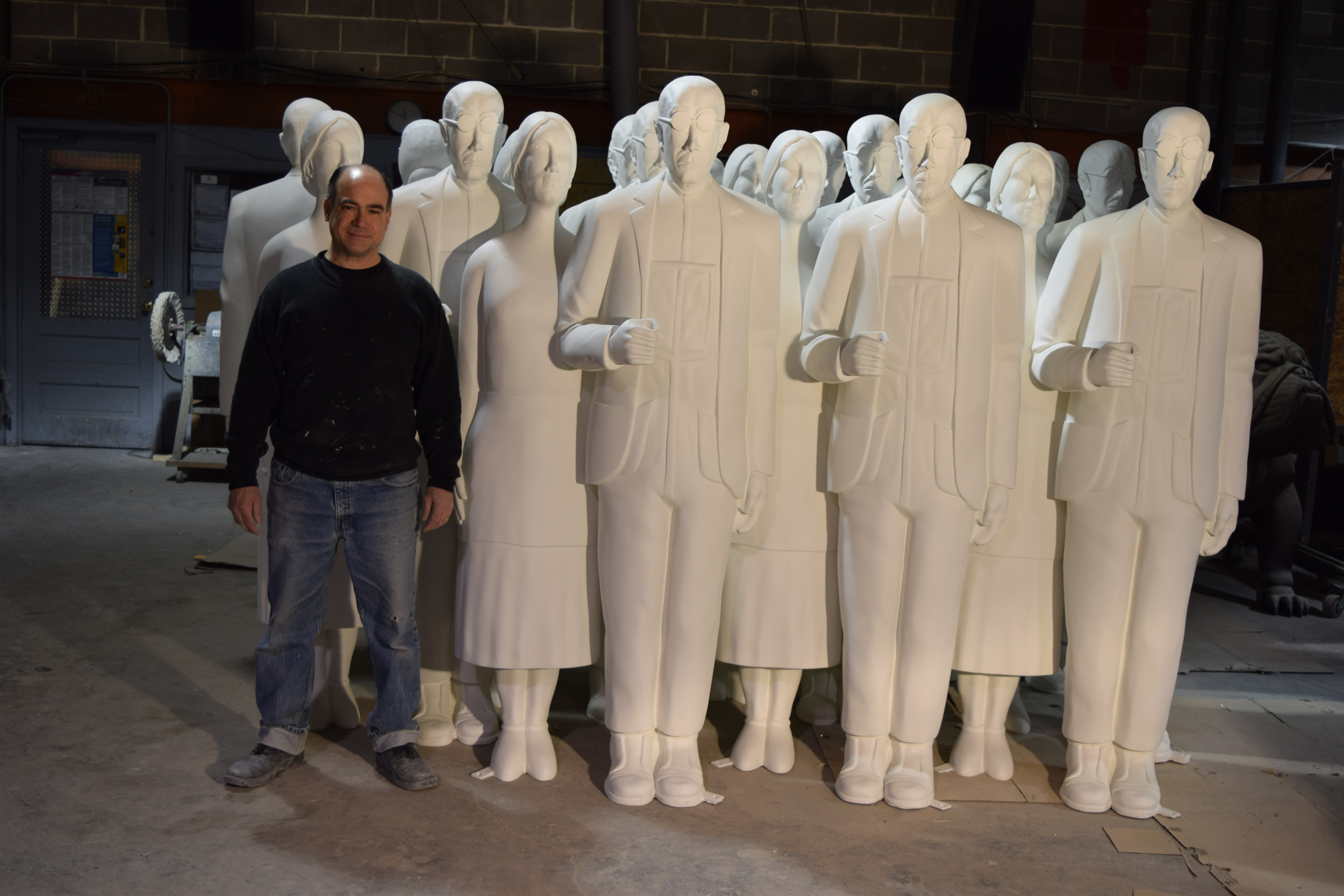 American Gothic Fiberglass sculptures