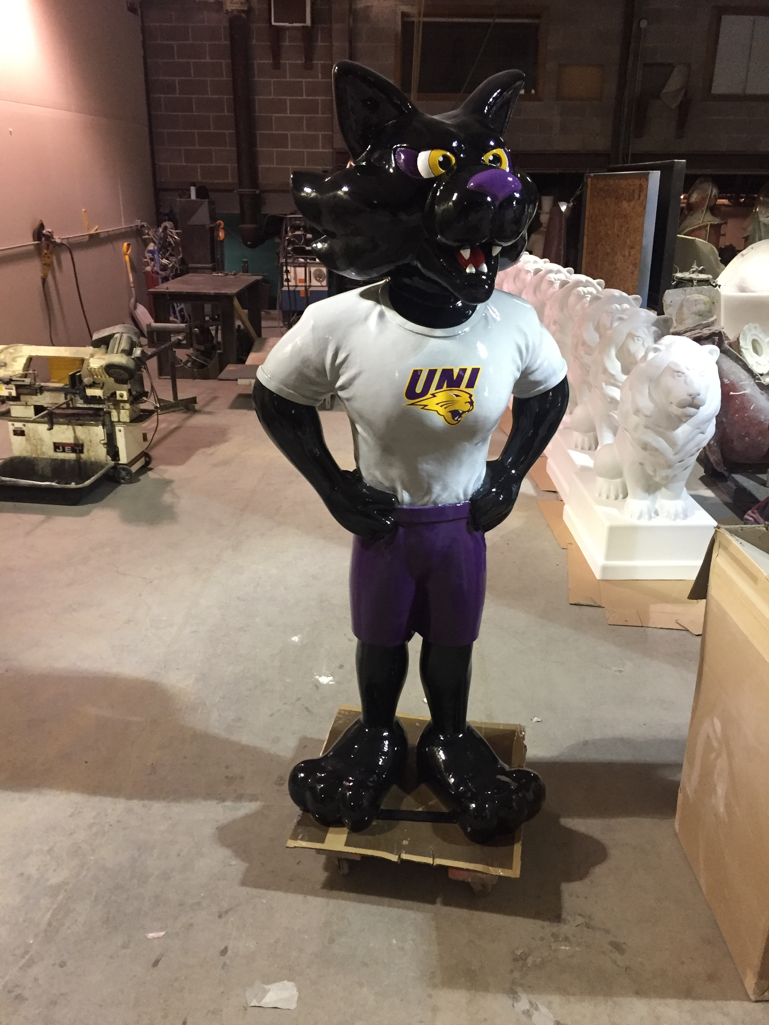 University of Northern Iowa mascot TC. Contracted for the book store in 2018
