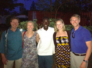 Cornel with Jane and I and my parents at the celebration in Kisumu