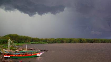 Fishing boats on Lake Victoria in Kisumu