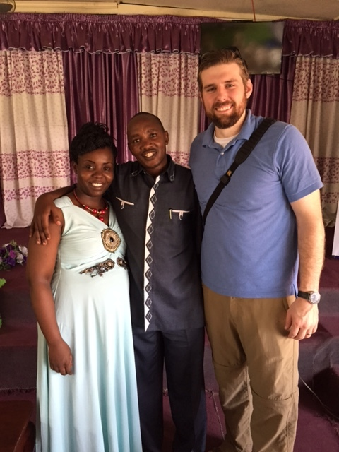 Justin and Pastors Robert and Rachel at the CARE for AIDS center in Mikandani.