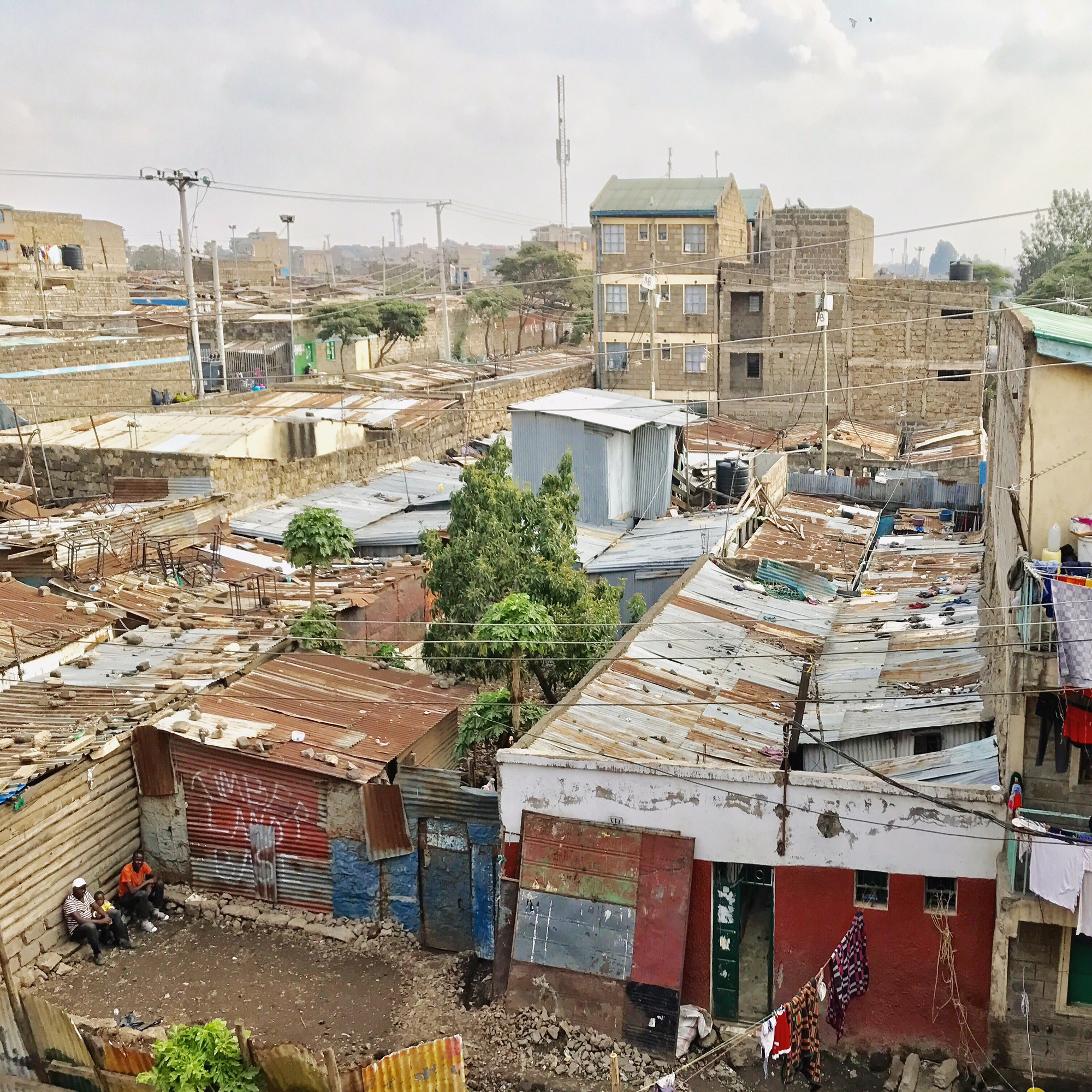 A view of the Dandora community from the top floor of Dandora PEFA Church.