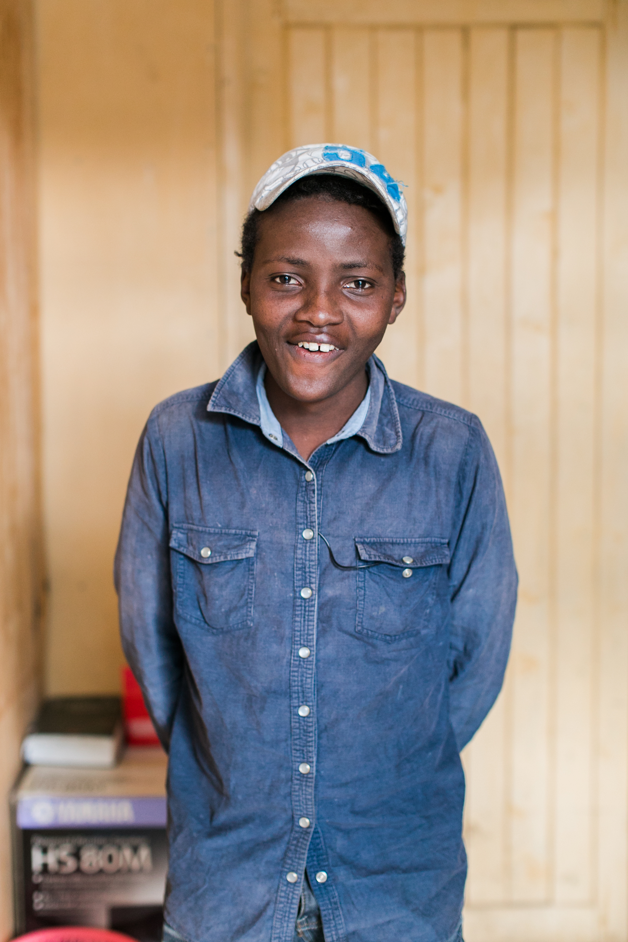 Isaac in September after eight months in the CARE for AIDS program