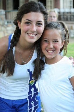 my Little sister Grace and I back in 2009, her very first night at her very first year at camp!