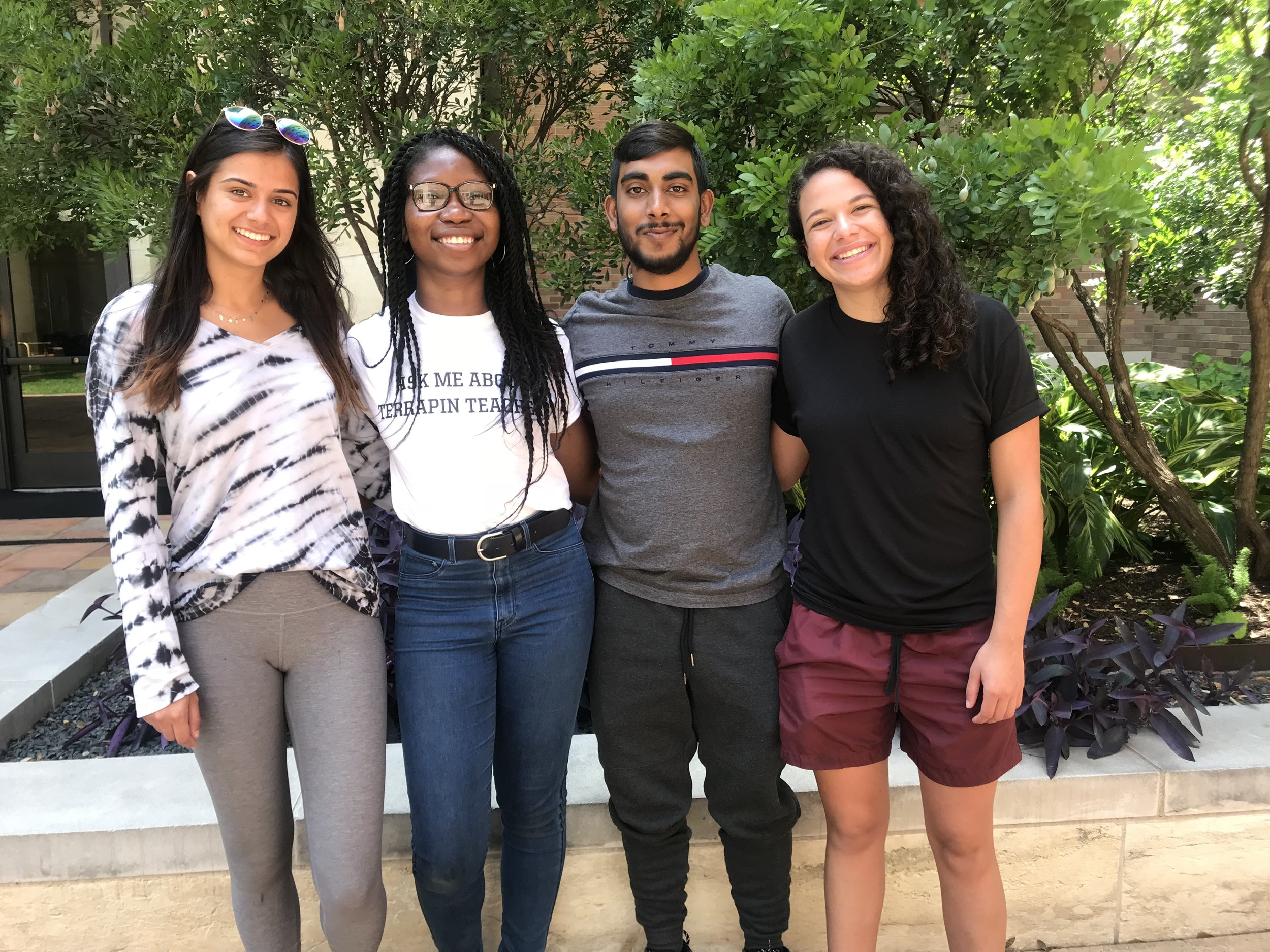 (photo credit: Jahaira Dixon)   (left to right: Tara Tanasavich,  Precious Azike, Joshua Pooranmal, Vanessa Wagener)