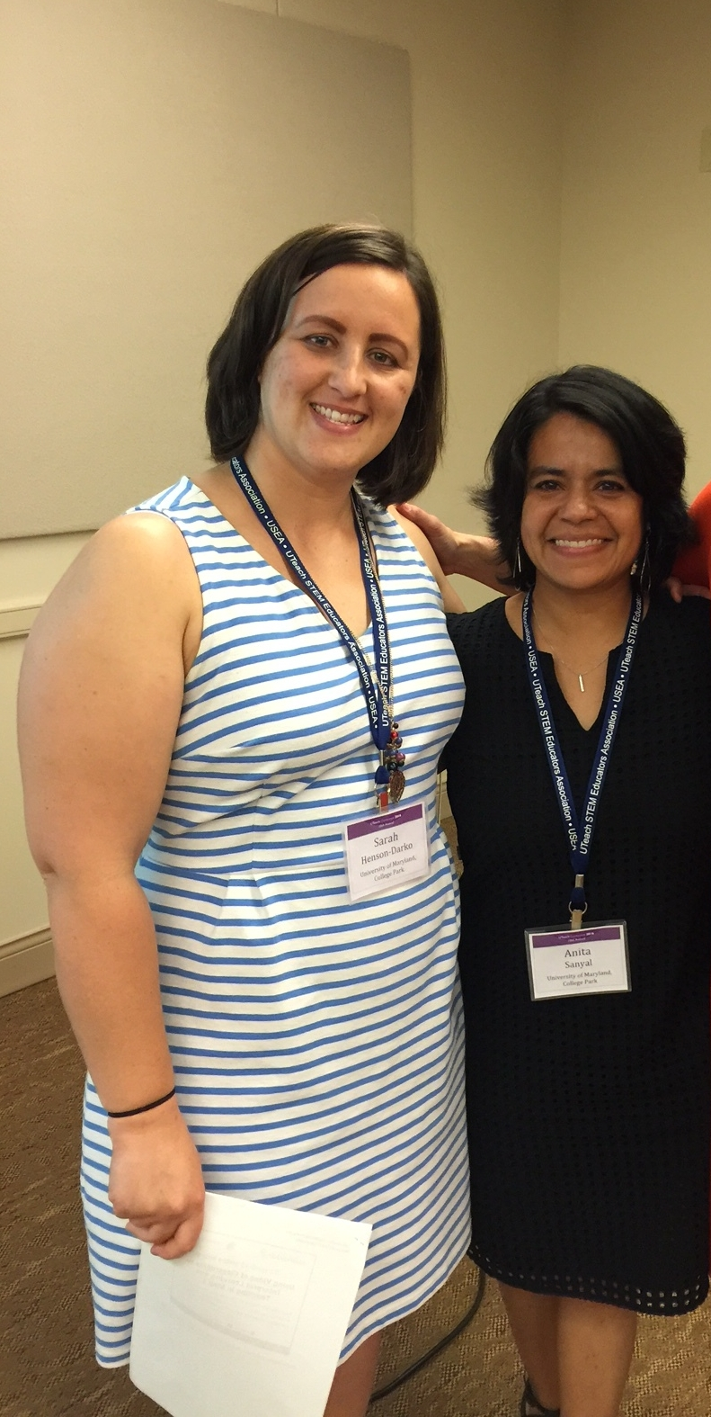 Photo: left to right, science Master Teachers, Sarah Henson-Darko, and Anita Sanyal