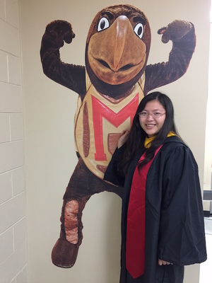 Photo: Alumna Yimei Cai, Physiology and Neurobiology major, graduated May, 2015; Completed the Master's Certification at UMD in 2017.