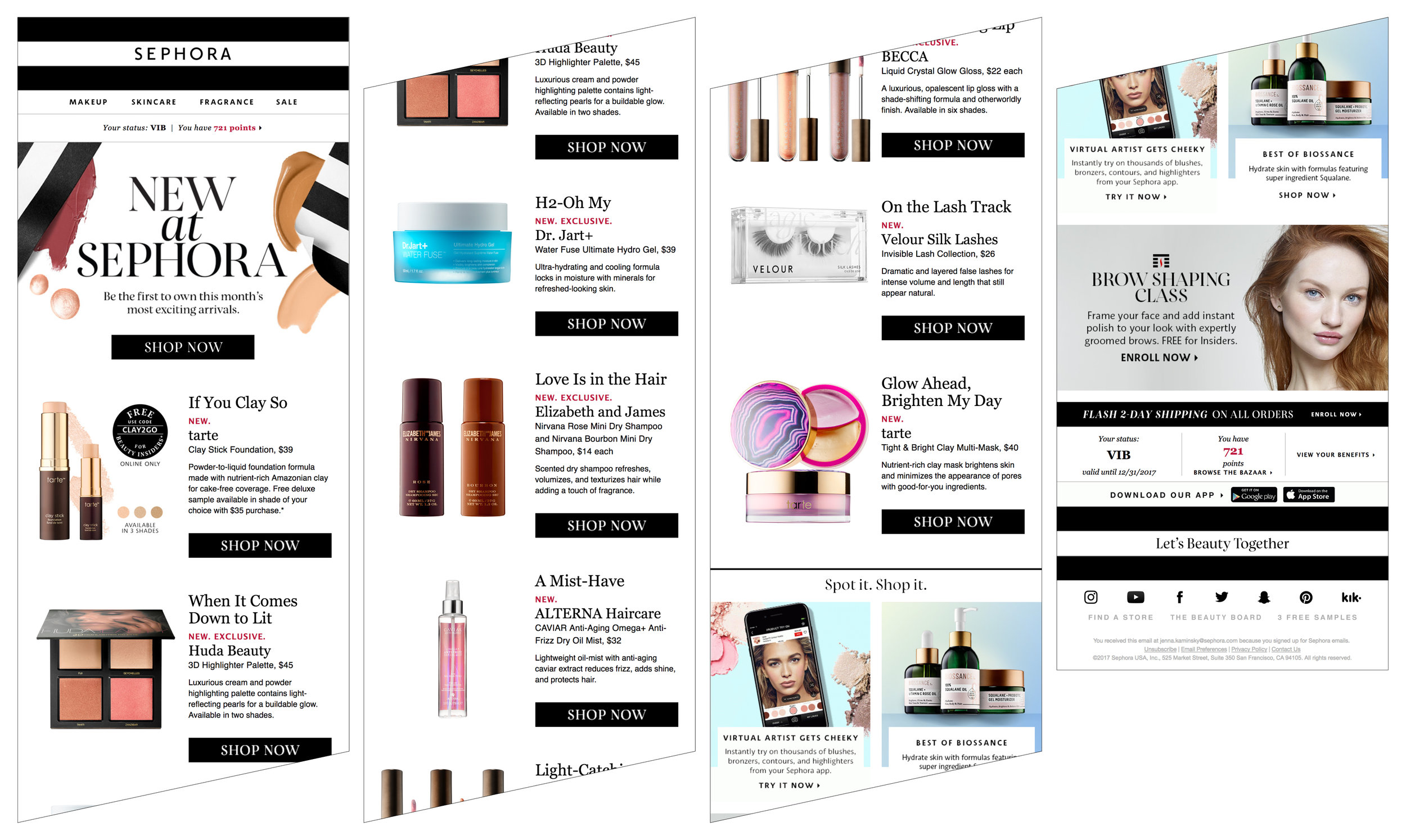 Updated New At Sephora email template.