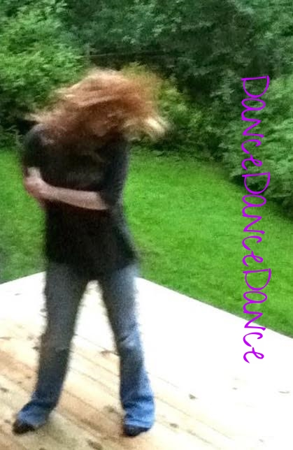 This is a fuzzy Bigfoot type photo because some people dance so fast and furious that their crazy mysterious moves can never be caught on film. True fact.