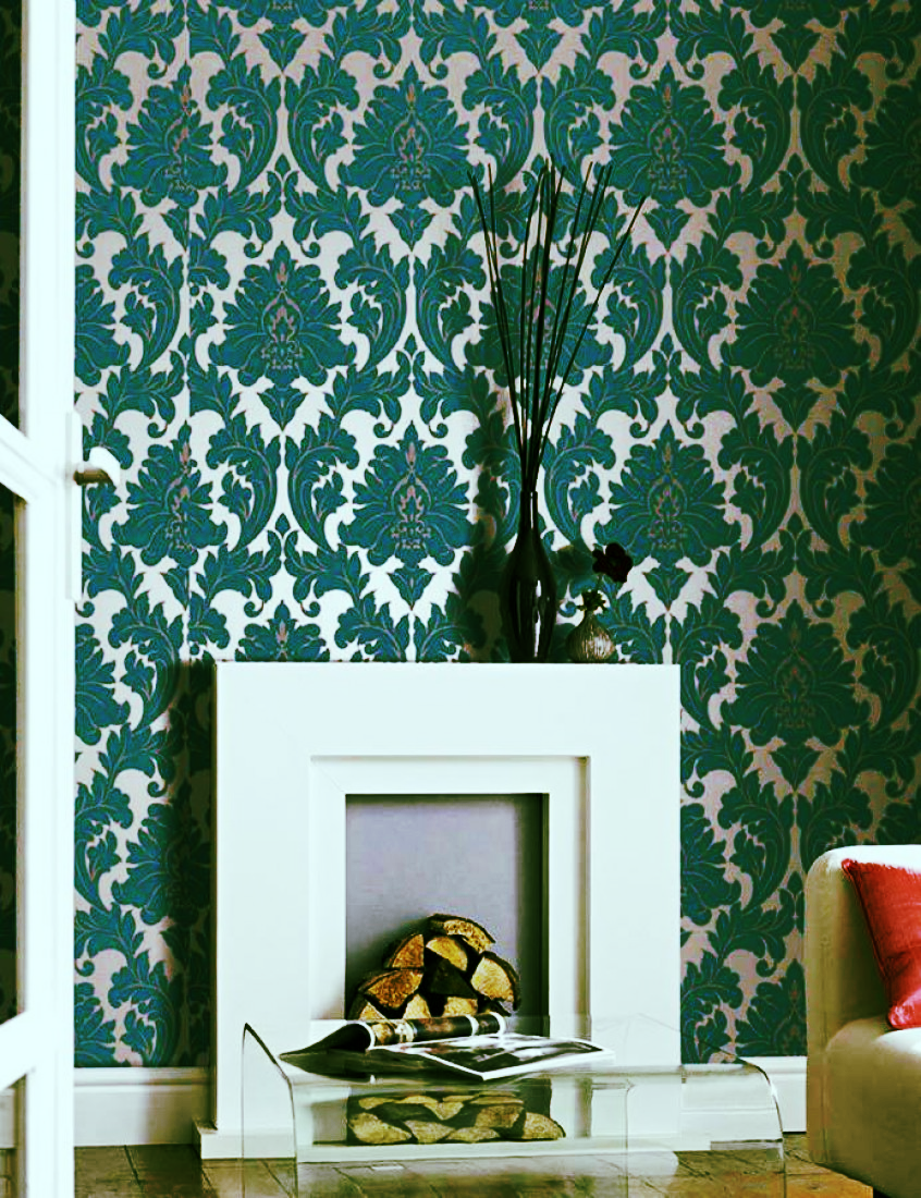 My Barbies and I loved the soft, sumptuous feel of this velvety wall covering!
