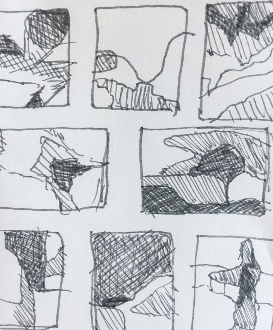 Compositional sketches from Karen's Sketchbook