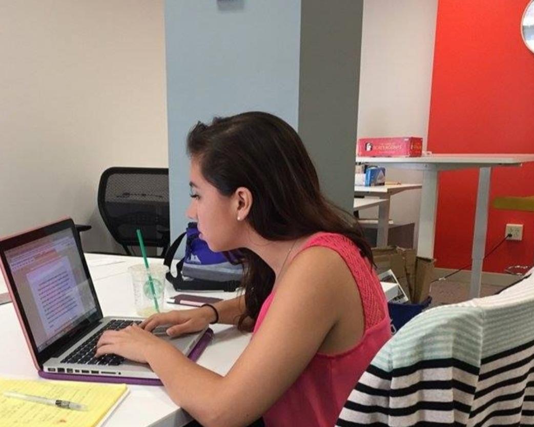 Stephanie at her firstinternship with CFSI! -