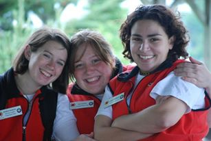 Marissa, far right, during her time with City Year