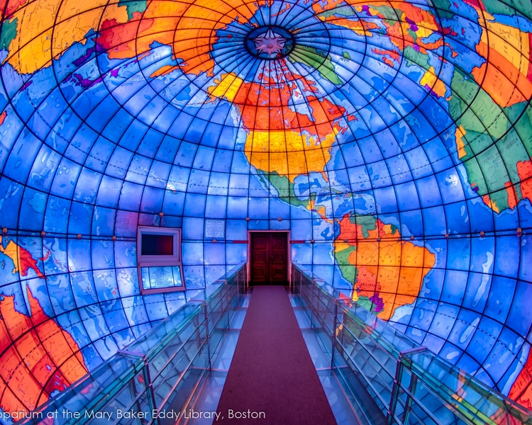 The Mapparium - Visit this world-famous, three-story, stained-glass globe, located in the Fenway neighborhood!