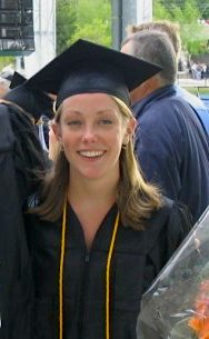 Katie at her UNH Graduation where she studied Psychology and Social Work!