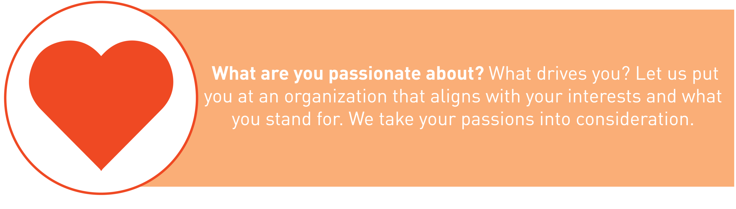 What are you passionate about? Matching graphic about your passions