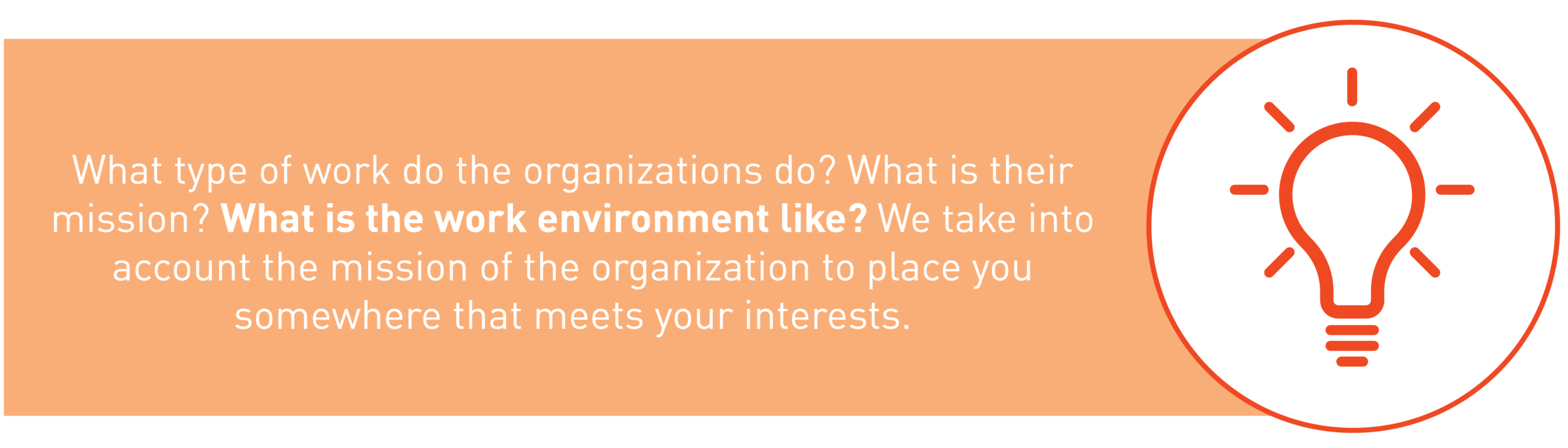 matching graphic about the organization and work that they do