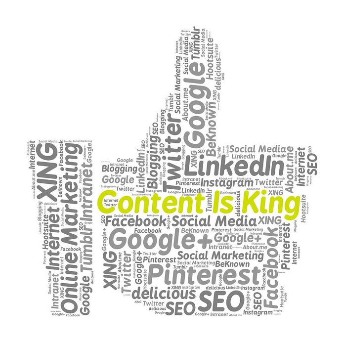 content marketing and online advertising