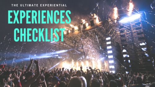 The Ultimate Experiential Experiences Checklist