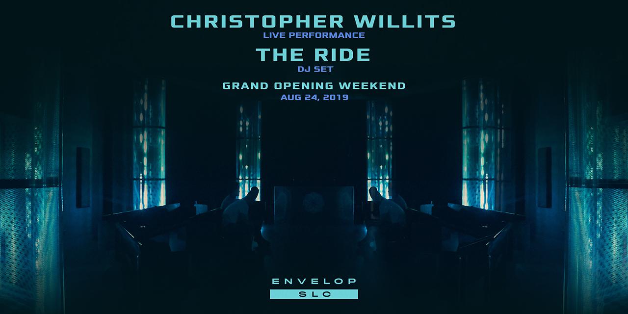 (Envelop SLC) Christopher Willits   The Ride - Showcase   Sat Aug 24, 2019   At Envelop SLC