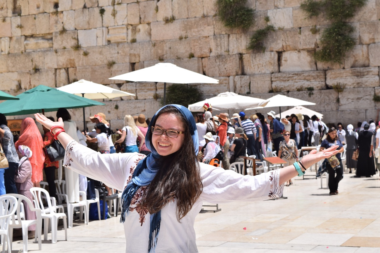 Jenna Cheung at the Wailing Wall in the Old City.jpg