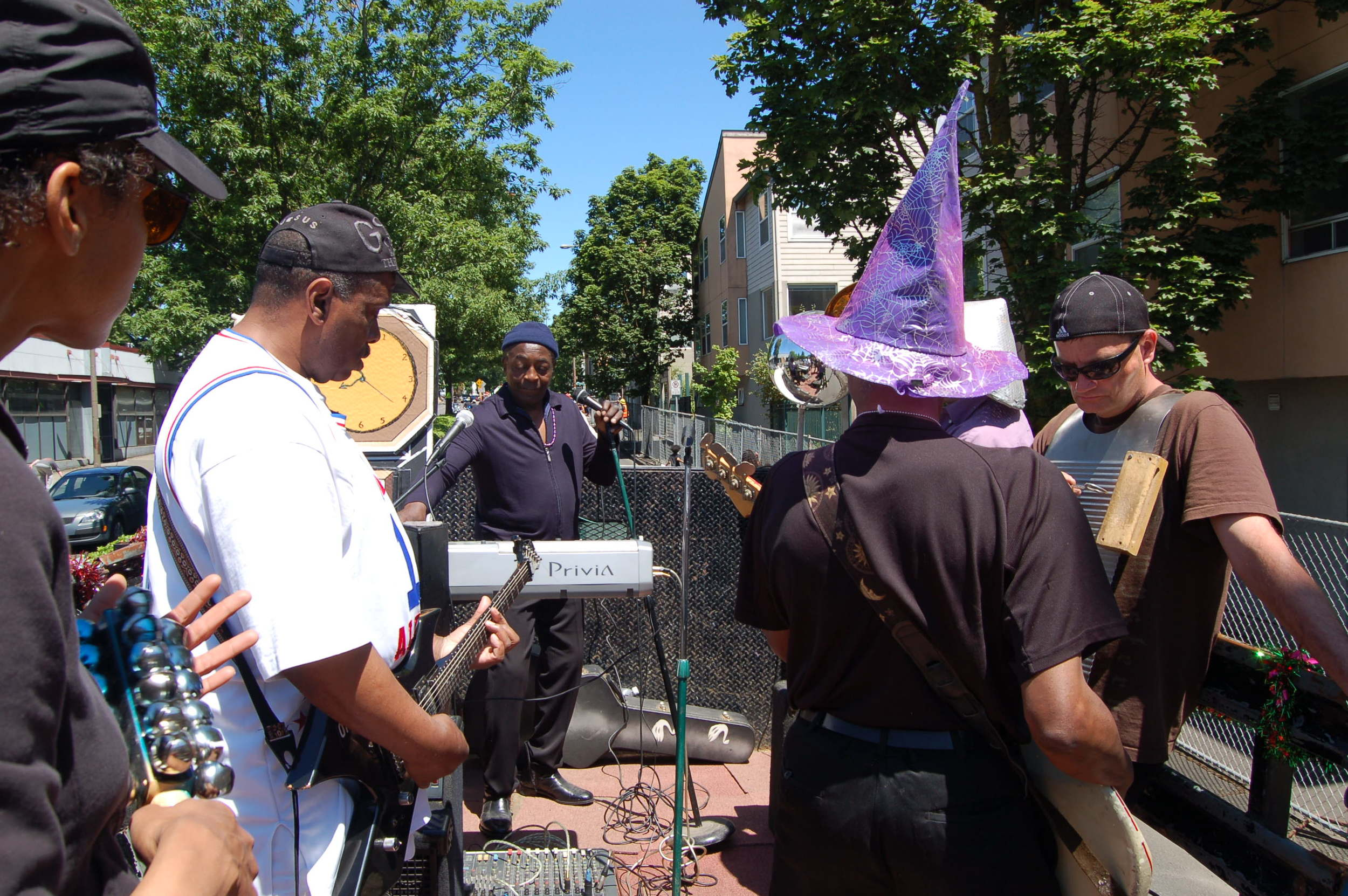 ReBuilding Center's Good in the Hood Parade float back in 2011 with Ural Thomas!