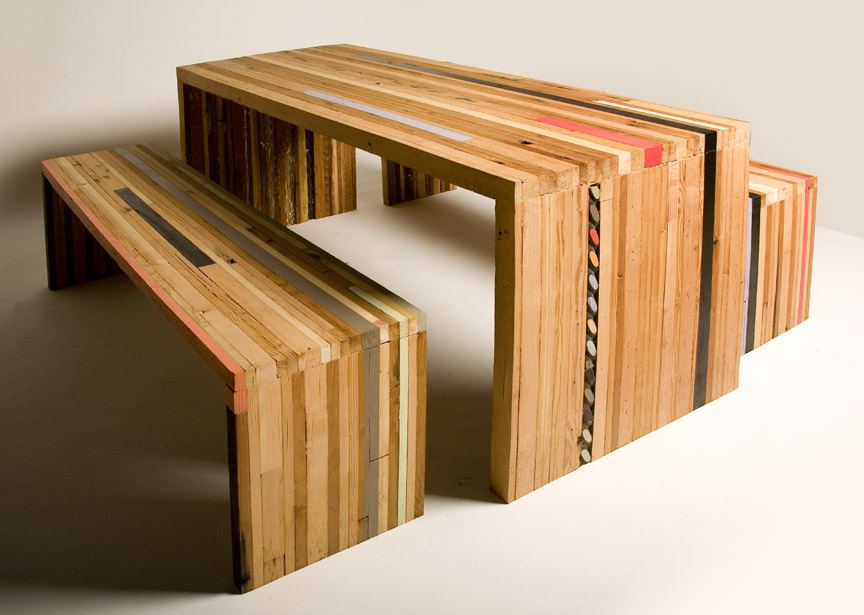 Wooden table and chairs , Credited by Culver Center, Flickr
