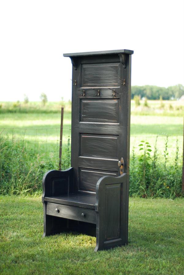 Door Tree Hall Bench - Photo credit: LG Custom Woodworking