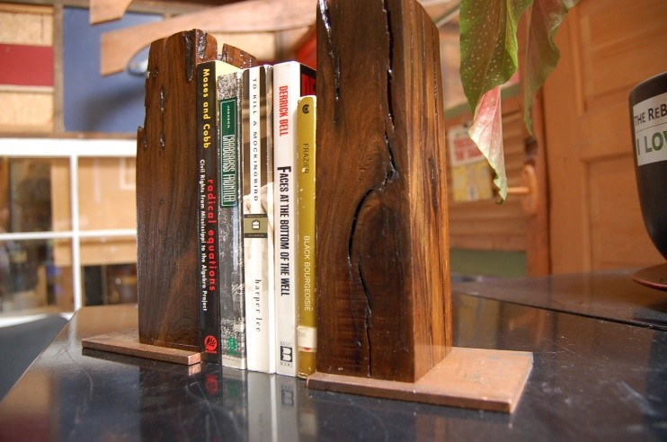 Bookends built by Pete