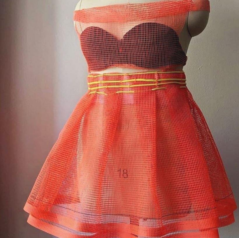 Debris Netting Dress  @babiesbekind