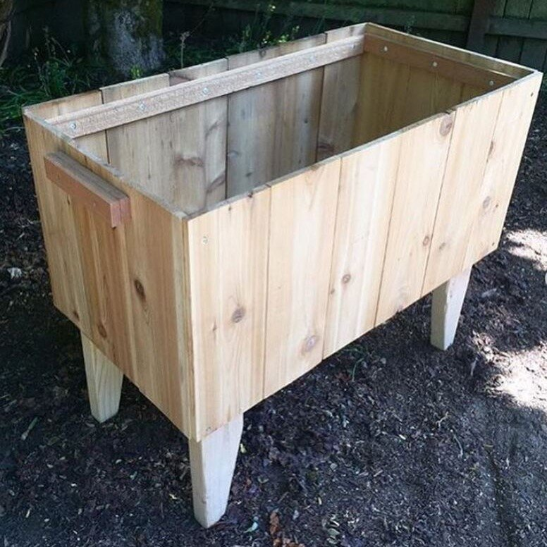 Reclaimed Cedar Planter Box  Claire, Salvage Specialist