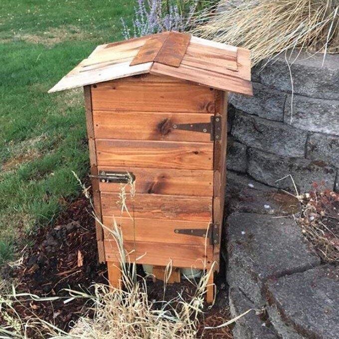Reclaimed Wood Utility Box Cover  Lynette, ReBuilder
