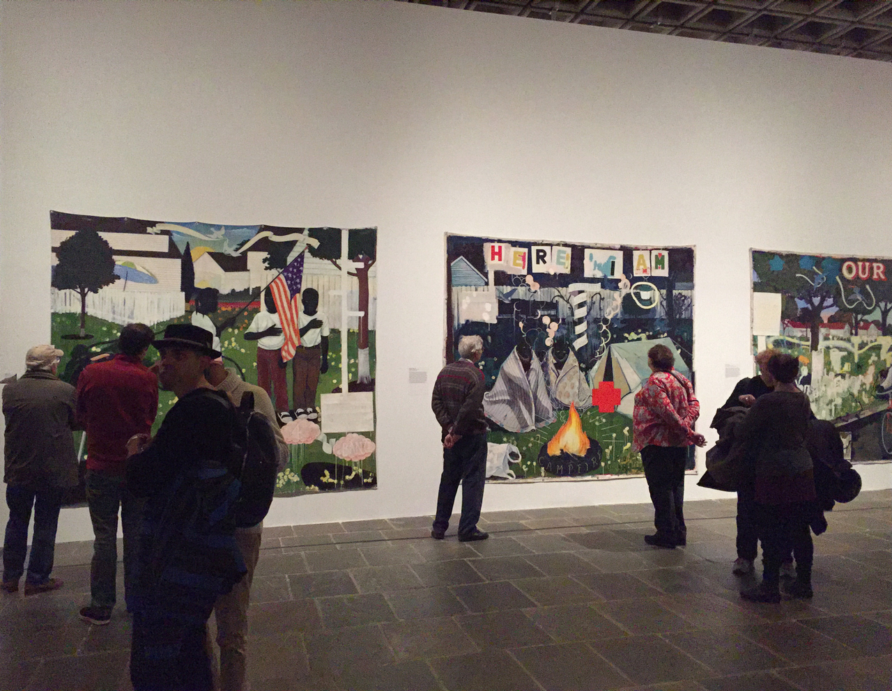 "Kerry James Marshall, installation view of ""Mastry,"" The Met Breuer, New York. Photo: Chris Bors"