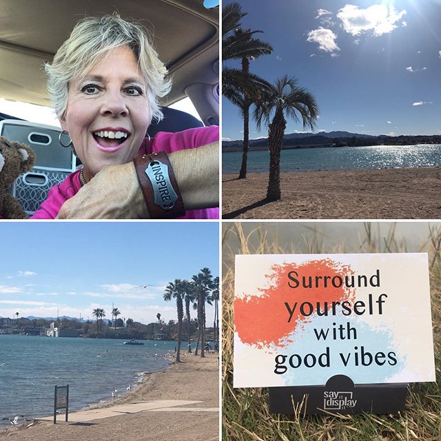 INSPIRE! Doesn't get any better than this.. February in #lakehavasu #arizona #likesummer #goodvibesquotes #nomadlife #nomadlifestyle #gypsysoul #gypsysouls #cardweller #cardwelling #nomad #empowermentquotes #empowering #traveler #nomadtravels #sereneandsimplelife #serenitynow #sayitdisplayit #mylifestory #livinginacar #simplelife #inspirationquotes #quotesandsayings #fuelyourday #ownyourinspiration #dailywords  #dailymessage #digitalnomad #digitalnomads #ladybosslife