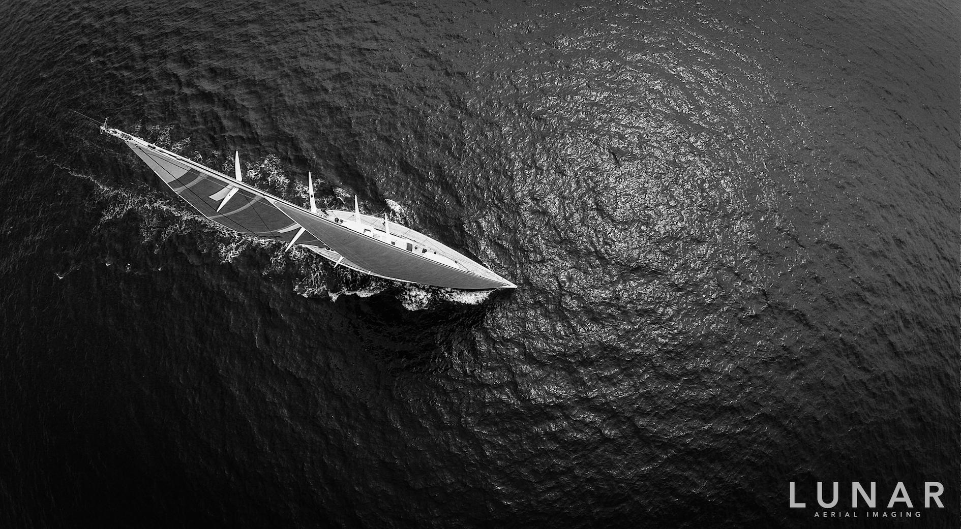 Launch of luxury yacht
