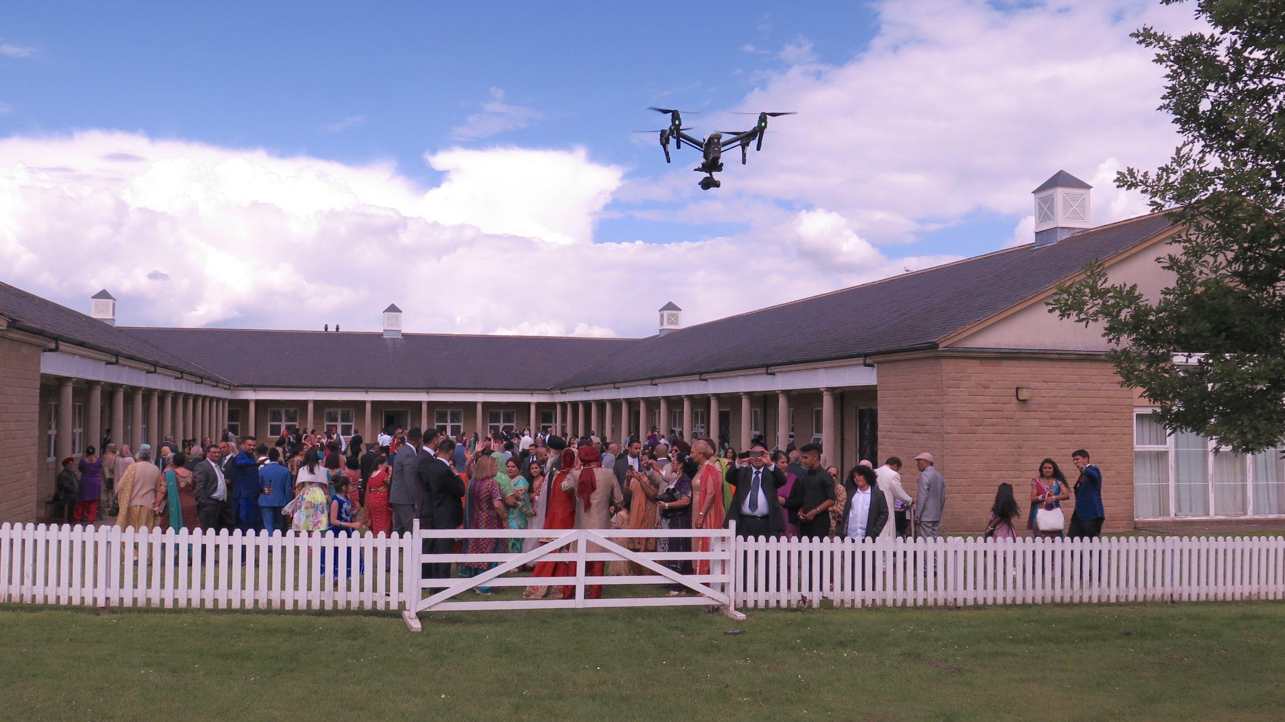 Drone filming for an Asian Wedding in Harrogate