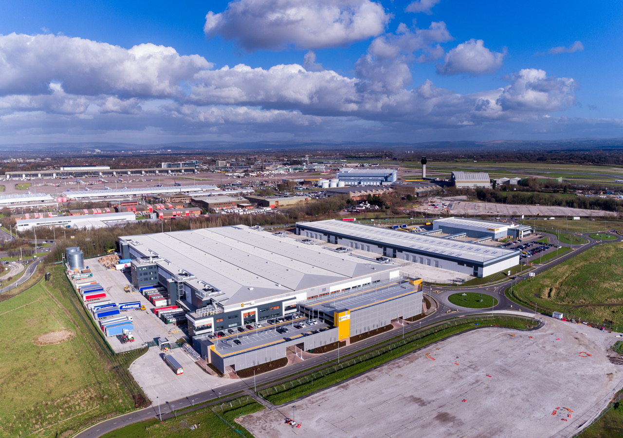 Drone filming by Manchester Airport