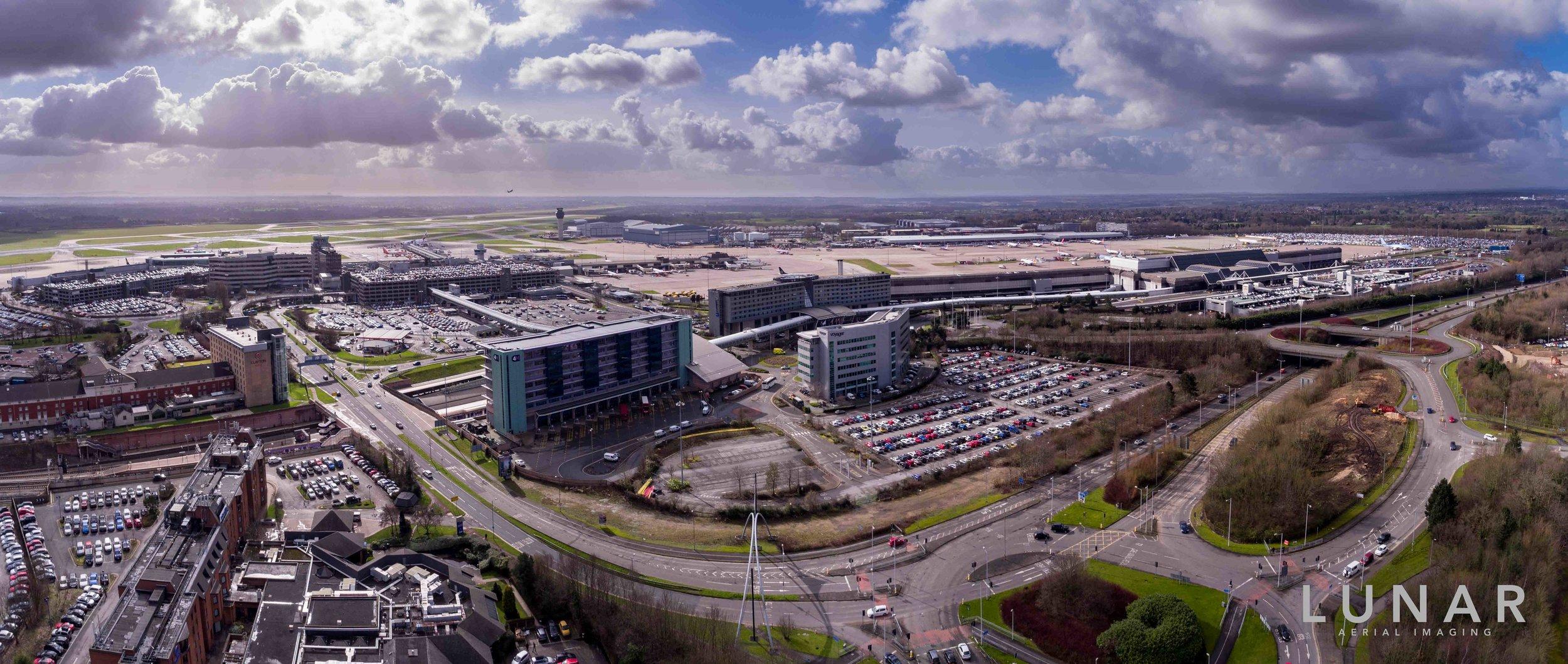 Aerial View of manchester Airport