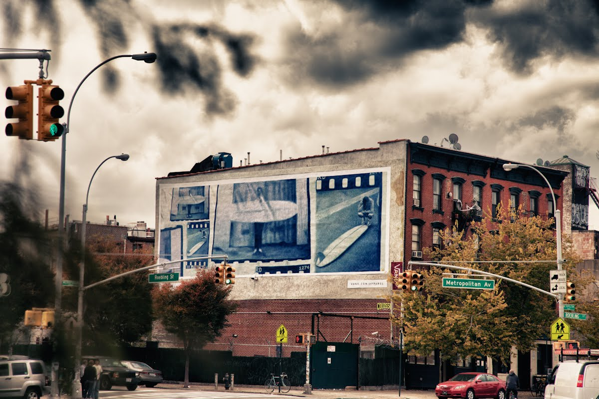 Kyle Lightner for Vans Billboard • Hand Painted, by  Colossal Media •Manhattan NY.