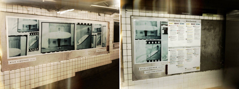 Kyle Lightner for Vans Subway Ads • Brooklyn NY.