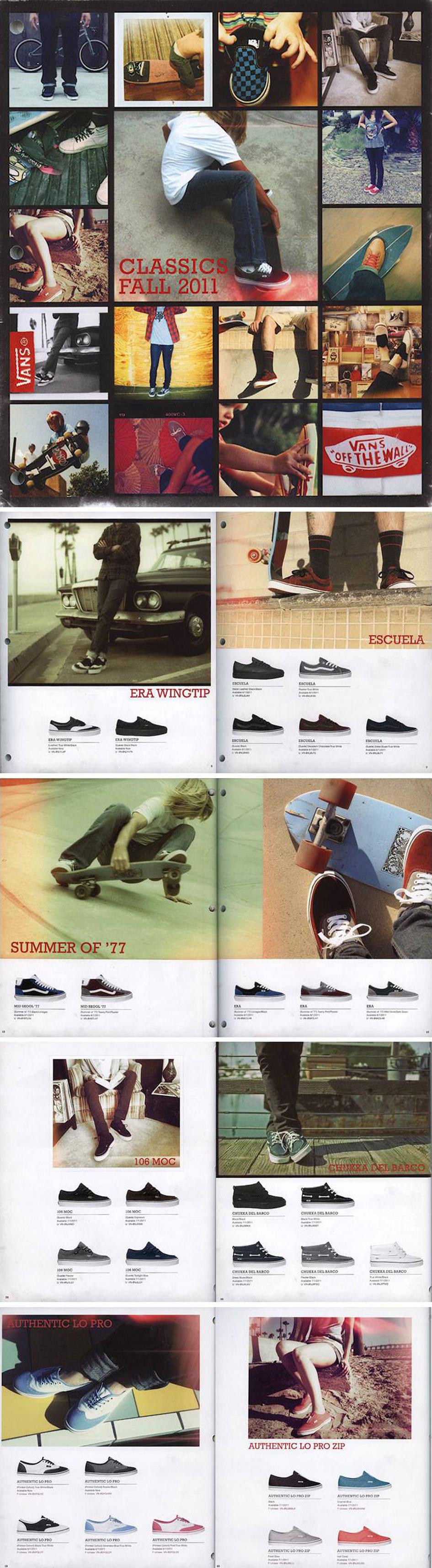 Vans Classics Catalog • Cover & Inserts.