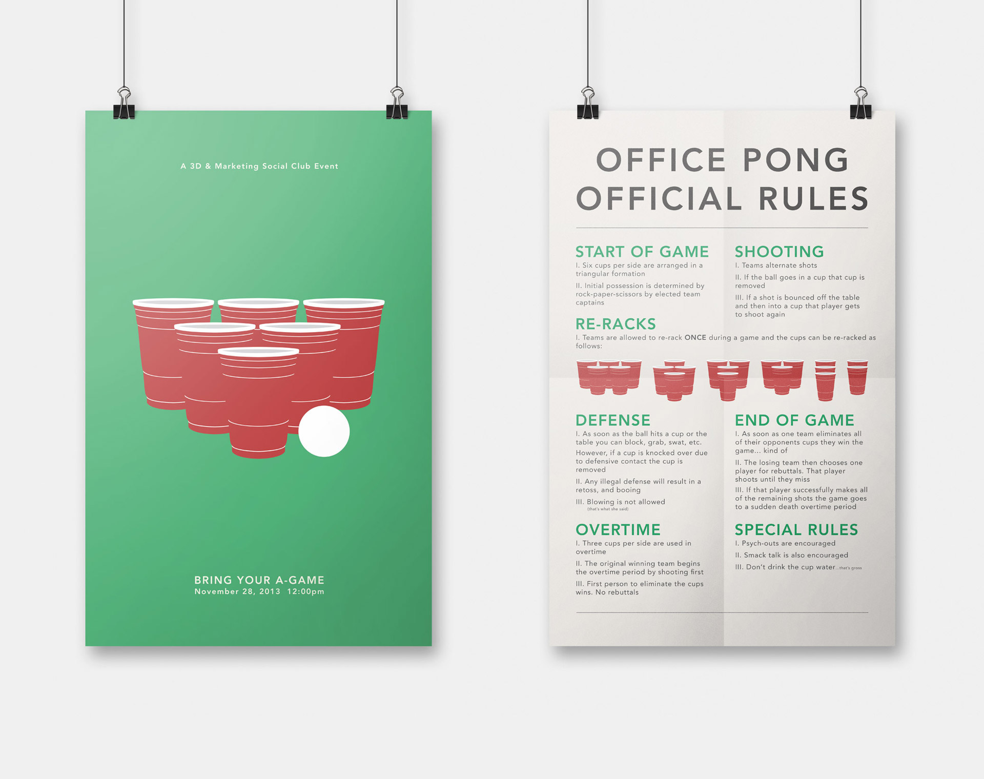 Office Pong Posters