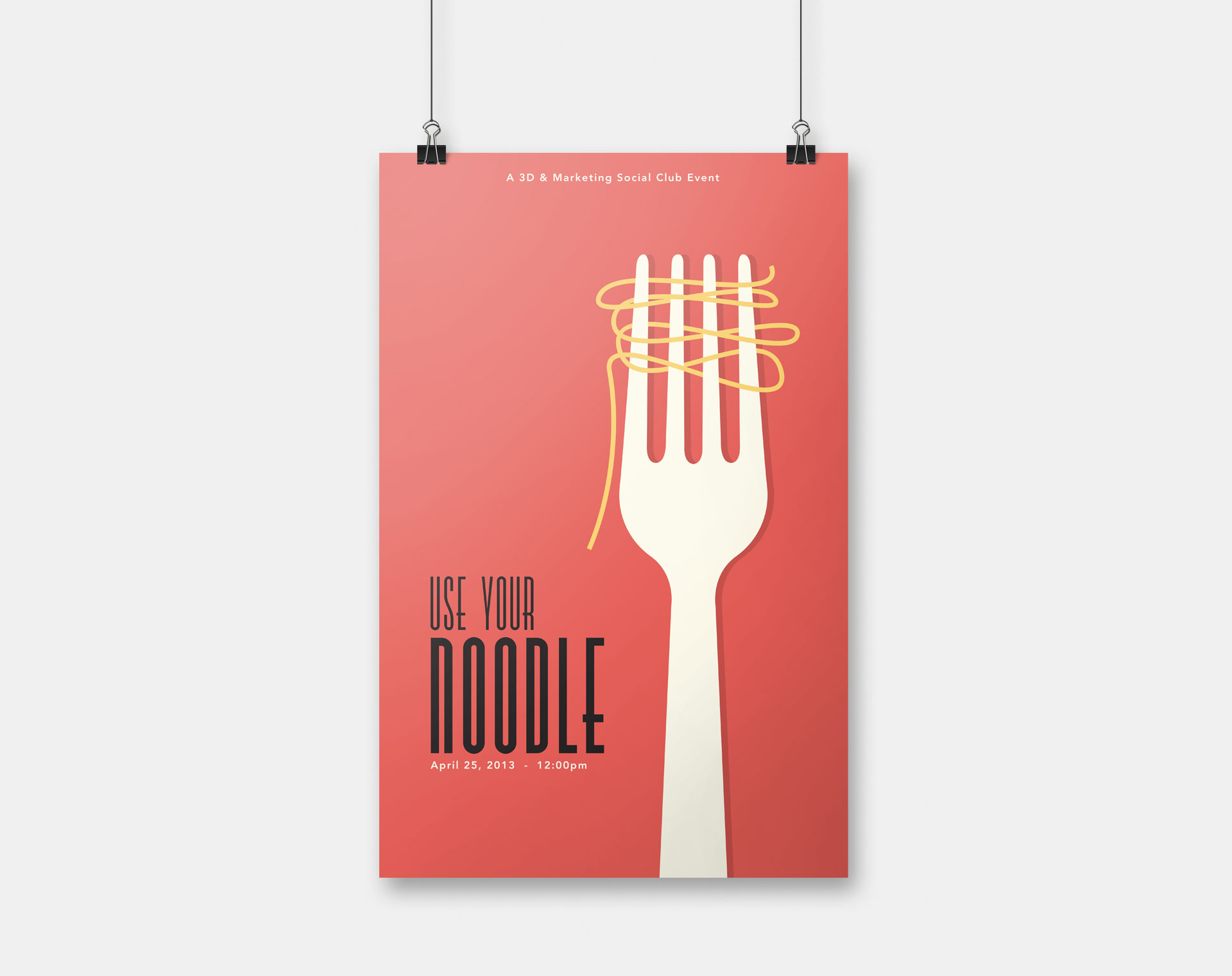 Use Your Noodle Poster