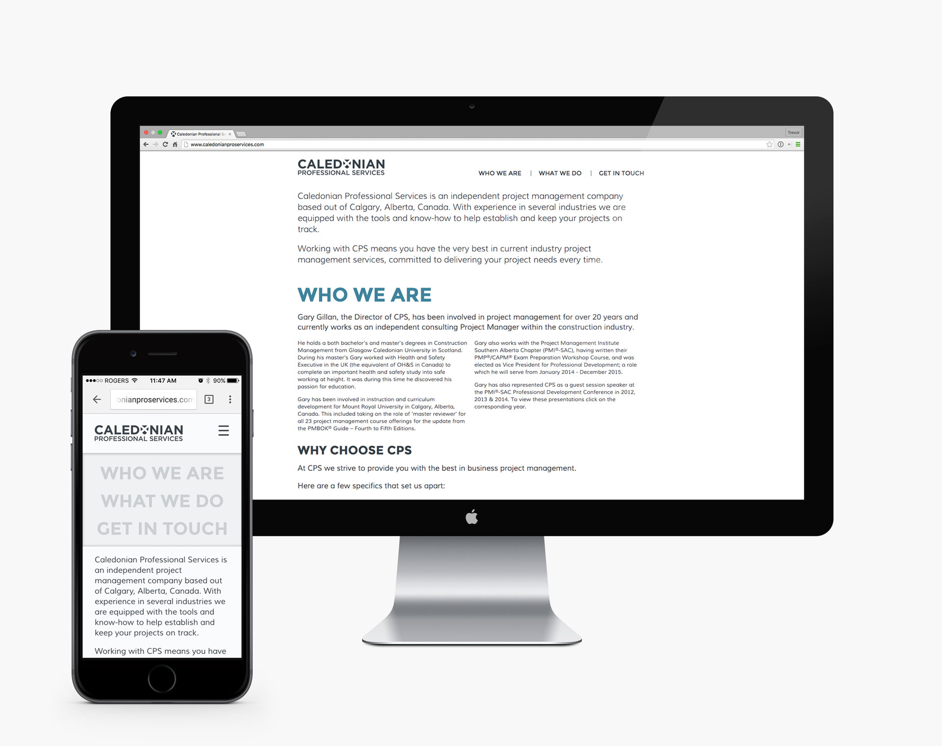 Caledonian Professional Services Redesign