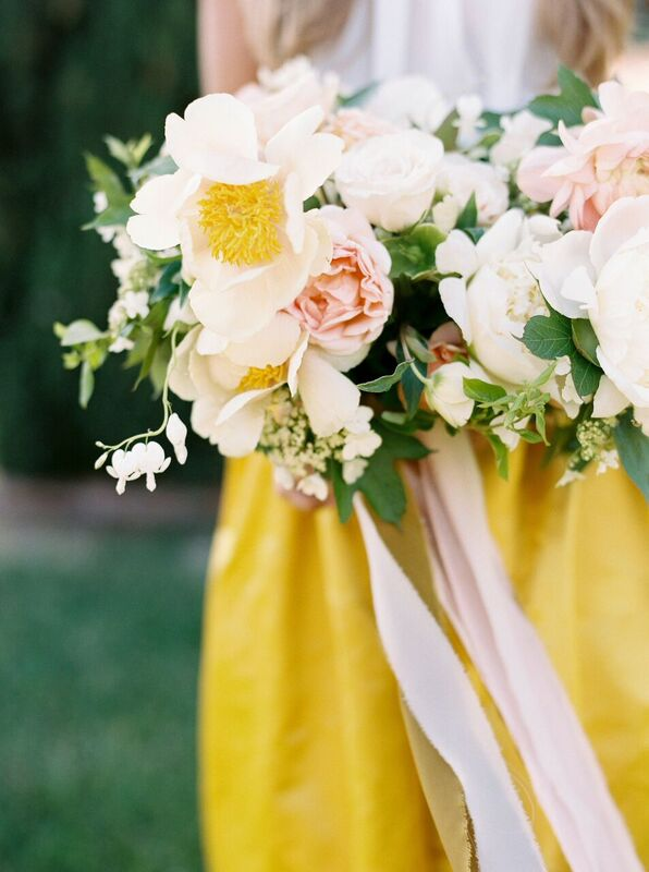springtime wedding flowers in portland oregon with foraged floral