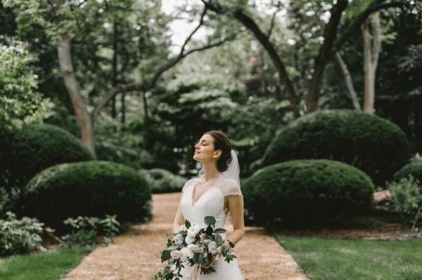 cascading blush bridal bouquet - foraged floral portland, or